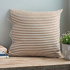 Coffee Ticking Stripe Pillow