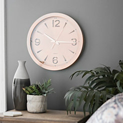 Rose Gold Metal Wall Clock