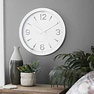 Silver Metal Wall Clock