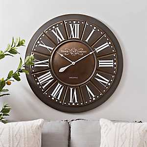 Roman Metal Layered Wall Clock, 37 in.