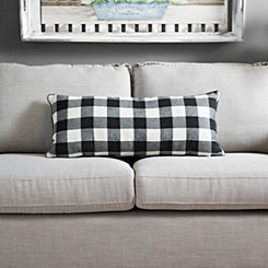 Black Buffalo Check Accent Pillow