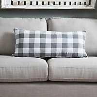 Gray Buffalo Check Accent Pillow
