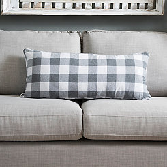 Gray Buffalo Check Accent Pillow