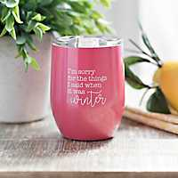 Pink Summer Vibes Wine Tumbler