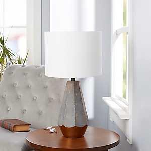 Gray Rustic Prism Table Lamp