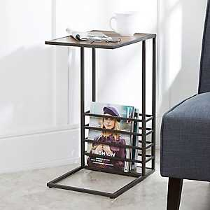 Beckett Wood and Metal C-Table