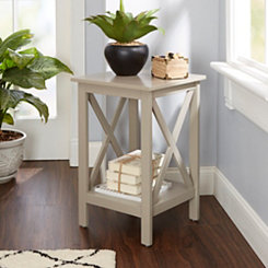 Arden Gray X-Frame Accent Table