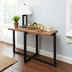 Drake Wood and Metal Console Table