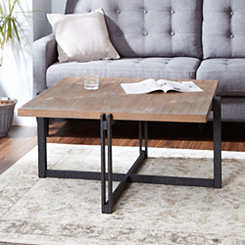 Drake Wood and Metal Square Coffee Table