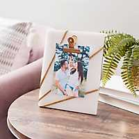 Gold Marble Clip Picture Frame, 4x6