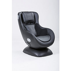 Black Massage Chair with Bluetooth Speaker