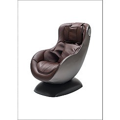 Brown Massage Chair with Bluetooth Speaker