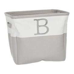 Gray Traditional B Monogram Storage Bin