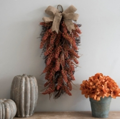 Dark Orange Heather Teardrop Wall Hanger