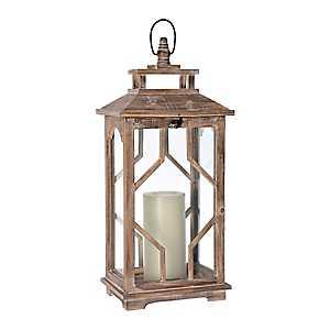 Brooke Cutout Wood Lantern