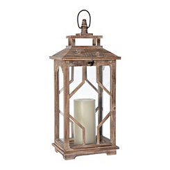 Brooke Cutout Wood Lantern