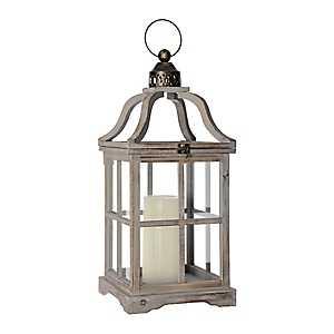 Gray Jenny Open Top Lantern