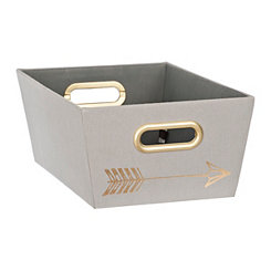 Gray Arrows Fabric Bin