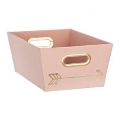 Pink Arrows Fabric Bin
