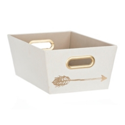 White Arrows Fabric Bin