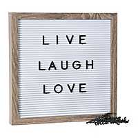 White Letter Peg Board with Black Letters