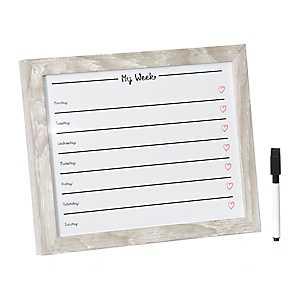 Natural My Week Dry Erase Board