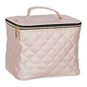 Pink Quilted Storage Travel Case