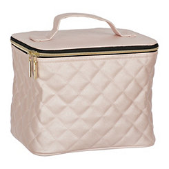 Pink Quilted Storage Travel Case