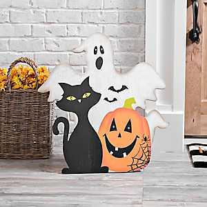 Halloween LED Wood Easel