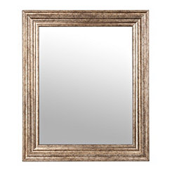 Antique Silver Step Framed Mirror, 30x36 in.