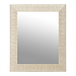 Textured Silver Framed Mirror, 30x40 in.