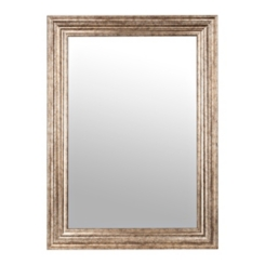 Antique Silver Step Wall Mirror, 31.5x43.5 in.