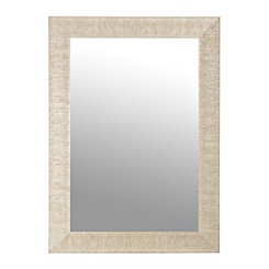 Textured Silver Framed Mirror, 32x44 in.