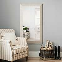 Textured Silver Framed Mirror, 31.5x55.5 in.