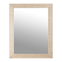 Textured Silver Framed Mirror, 37.5x47.5 in.