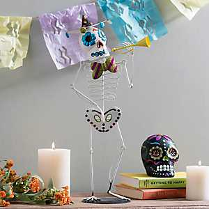 Day of the Dead Iron Sugar Skull Figurine