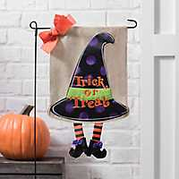 Trick or Treat Witch Hat Flag Set