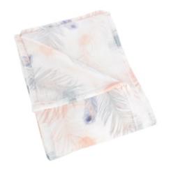 Flowy Feathers Plush Throw