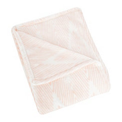 Blush Zig Zag Plush Throw