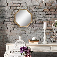 Ollie Gold Octagon Wall Mirror, 30 in.