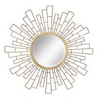 Geometric Sunburst Wall Mirror