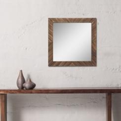 Wooden Chevron Wall Mirror