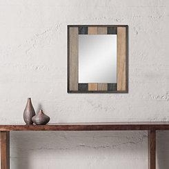 Natural Wood Plank Mirror