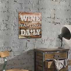 Wine Tasting Daily Wood Wall Plaque