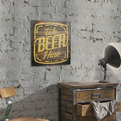 We Beer Here Wood Wall Plaque