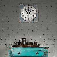 Blue Wood Plank Sentiment Wall Clock