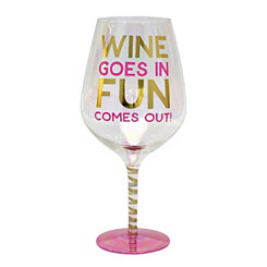 Pink Wine Fun Wine Glass