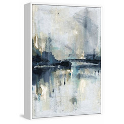 Abstract Reflective Foil Framed Canvas Art Print