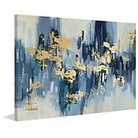 Hints of Gold Foiled Canvas Art Print