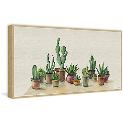 Potted Plants Framed Canvas Art Print